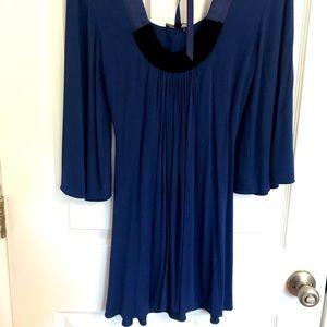 Sky brand dress w/velvet detail. M